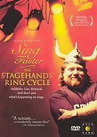 Sing faster. / The stagehand's ring cycle