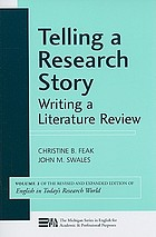 Telling a research story : writing a literature review
