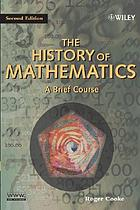 The history of mathematics : a brief course