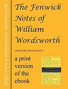 The Fenwick notes of William Wordsworth