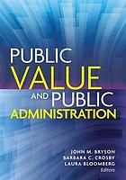 Public value and public administration