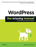 WordPress : the missing manual
