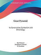 The Great Pyramid : its construction, symbolism and chronology (1927)