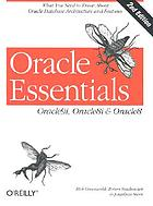 Oracle essentials : Oracle9 i, Oracle8 i & Oracle8