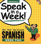 Speak in a week. week two, Spanish