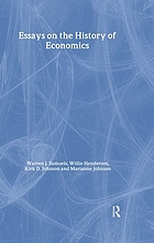 Essays on the history of economics