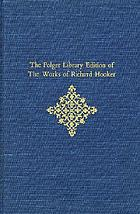 The Folger Library edition of the works of Richard Hooker