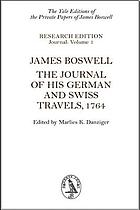 The journal of his German and Swiss travels, 1764