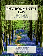 Environmental law : text, cases, and materials
