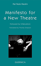 Manifesto for a new theatre : followed by Infabulation