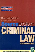 Sourcebook on criminal law
