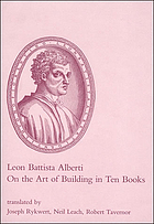 On the art of building : in ten books