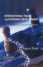 International trade and economic development : essays in theory and policy