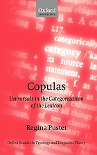 Copulas : universals in the categorization of the lexicon