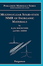 Multinuclear solid-state NMR of inorganic materials