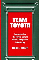 Team Toyota : transplanting the Toyota culture to the Camry plant in Kentucky