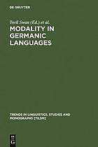Modality in Germanic languages : historical and comparative perspectives