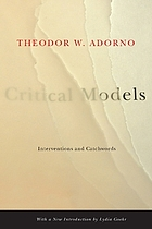Critical models : interventions and catchwords