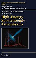 High-energy spectroscopic astrophysics