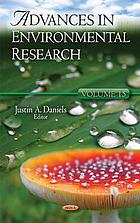 Advances in environmental research. Vol. 15