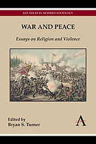 War and Peace : Essays on Religion and Violence.