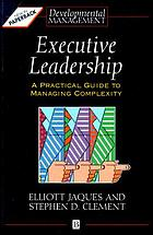 Executive leadership : a practical guide to managing complexity
