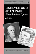 Carlyle and Jean Paul : their spiritual optics