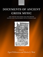 Documents of Ancient Greek Music: The Extant Melodies and Fragments cover image