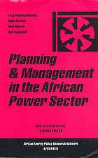 Planning and management in the African power sector