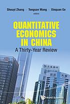 Quantitative economics in China : a thirty-year review