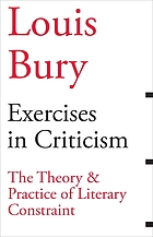 Exercises in criticism : the theory and practice of literary constraint