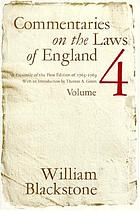 Commentaries on the laws of England. / Volume I of the Rights of persons, 1765