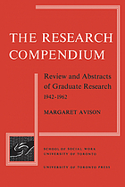 The research compendium : review and abstracts of graduate research 1942-1962