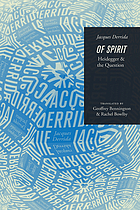 Of spirit : Heidegger and the question