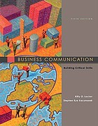 Business communication : building critical skills