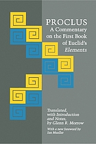 A commentary on the first book of Euclid's Elements.