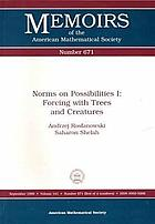 Norms on possibilities I : forcing with trees and creatures