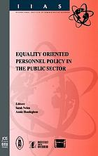 Equality oriented personnel policy in the public sector