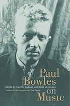 Paul Bowles on music