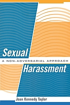 Sexual harassment : a non-adversarial approach