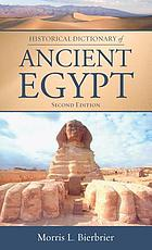 Historical Dictionary of Ancient Egypt cover image