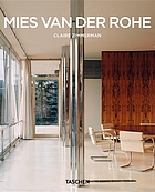 Mies van der Rohe, 1886-1969 : the structure of space