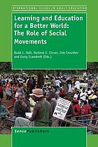 Learning and education for a better world : the role of social movements