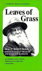 Leaves of grass: authoritative texts, prefaces, Whitman on his art, criticism.