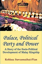 Palace, political party, and power : a story of the socio-political development of Malay kingship