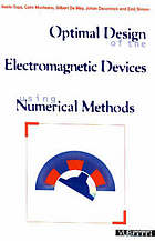 Optimal design of the electromagnetic devices using numerical methods
