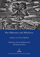 Pre-histories and afterlives : studies in critical method for Terence Cave