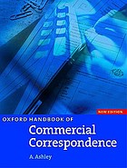 Oxford handbook of commercial correspondence