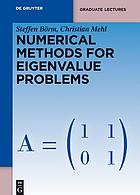 Numerical Methods for Eigenvalue Problems.