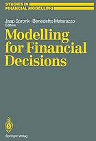Modelling for financial decisions : proceedings of the 5th meeting of the EURO Working Group on